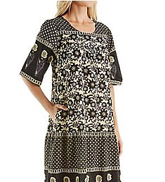 La Cera 100% Cotton Woven Ankle Length Lounge Dress 2209A