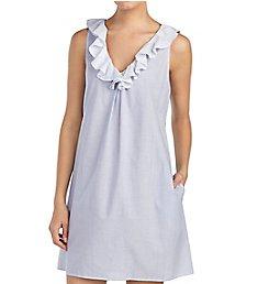 Lauren Ralph Lauren Sleepwear Country Gardens Ruffle Neck Gown LN21580