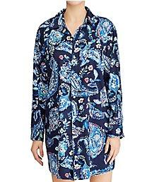 Lauren Ralph Lauren Sleepwear Paisley Classic Sateen Long Sleeve Sleepshirt LN31519