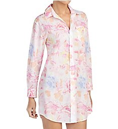 Lauren Ralph Lauren Sleepwear Southern Belle 3/4 Sleeve Notch Collar Sleepshirt LN31567