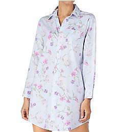 Lauren Ralph Lauren Sleepwear Brushed Twill Long Sleeve Sleepshirt LN31652