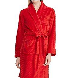 Lauren Ralph Lauren Sleepwear Fleece Short Shawl Collar Robe LN41626