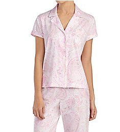 Lauren Ralph Lauren Sleepwear Classic Knits Short Sleeve Notch Collar Bermuda PJ LN71571