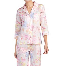 Lauren Ralph Lauren Sleepwear Southern Belle 3/4 Sleeve Notch Collar PJ Set LN91567