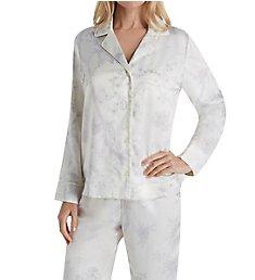 Lauren Ralph Lauren Sleepwear Satins Long Sleeve Notch Collar Long Pant PJ Set LN91623