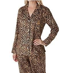 Lauren Ralph Lauren Sleepwear Sateen Long Sleeve Classic Notch Collar PJ Set LN91642