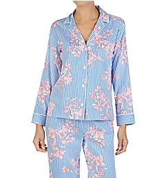 Lauren Ralph Lauren Sleepwear Classic Sateen Long Sleeve Printed PJ Set LN91659