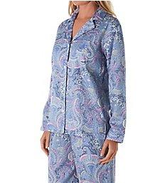 Lauren Ralph Lauren Sleepwear Sateen Notch Collar PJ Set LN92035