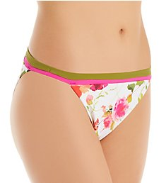 Nanette Lepore Silk Blossoms-White Classic Swim Bottom L0B1024N
