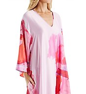 Natori Abstract Printed Silky Charmeuse Long Caftan B70049