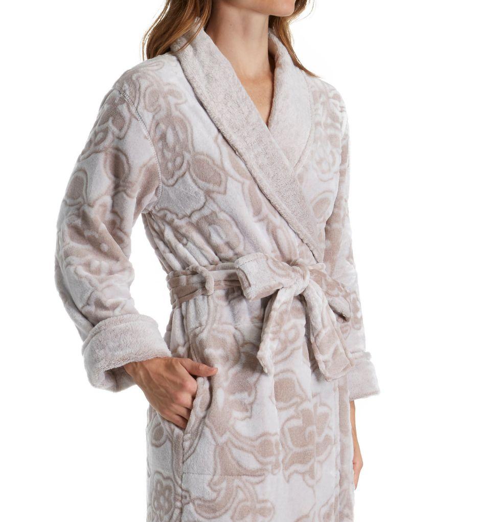 Natori Plush Damask Long Robe B74059