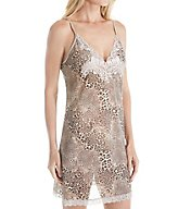 Natori Feathers Animal Printed Mesh Chemise B78268
