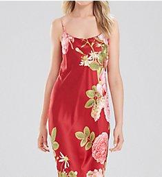 Natori Mandarin Long Printed Charmeuse Gown D73038
