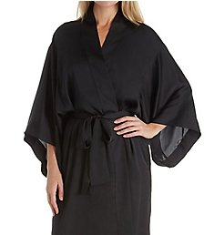 Natori Feathers Satin Wrap Robe D74064