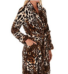 Natori Plush Leopard Long Robe H74274