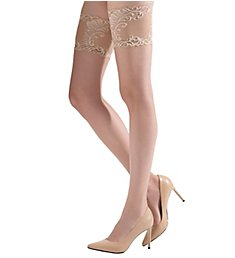 Natori Crystal Sheer Feathers Lace Top Thigh High NAT-801