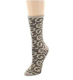 Natori Etched Geo Crew Wool Blend Sock NTW-600