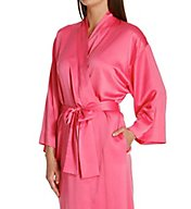Natori Solid Charmeuse Essentials Robe V74029