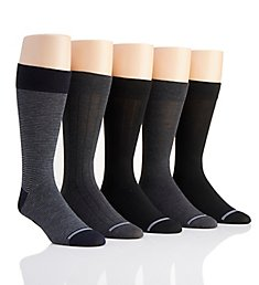 Nautica Solid Micro Stripe Dress Socks - 5 Pack 173DR60