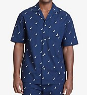 Nautica J Class Print Anchor Camp Shirt 300165