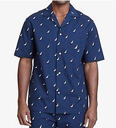 Nautica J Class Print Anchor Camp Shirt 300165