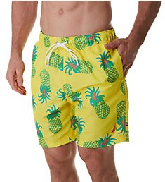 Nautica Big Man Tropical Pineapple 8 Inch Swim Trunk F01125
