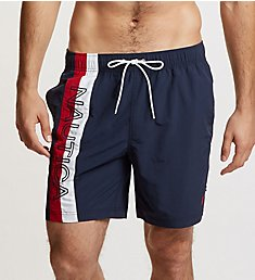 Nautica Big Man Surfwashed Colorblock Swim Trunk F84107