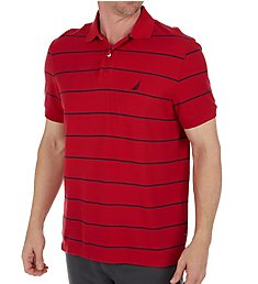 Nautica Performance Wicking Striped Polo Shirt K42051