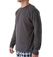 Nautica Sueded Jersey Long Sleeve Crew Shirt KL00F6