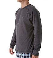 Nautica Sueded Jersey Long Sleeve Crew Shirt KL00F6