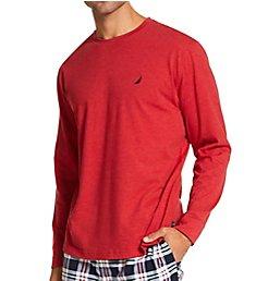 Nautica Long Sleeve Knit Sleep Top KL01F1