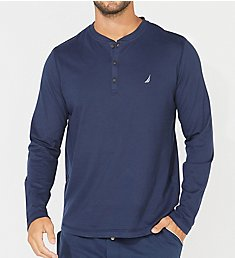 Nautica Sueded Jersey Long Sleeve Henley KL22F6