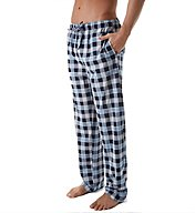 Nautica Cozy Fleece Check Plaid Lounge Pant KP37F6