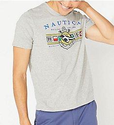 Nautica Big Man Colored Flags Crew Neck T-Shirt Q01109