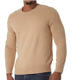 Nautica Solid 100% Cotton Crew Sweater S53705