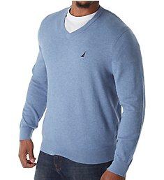Nautica Jersey Cotton V-Neck Sweater S83100
