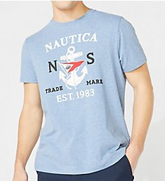 Nautica Anchor Flag Crew Neck T-Shirt V01105