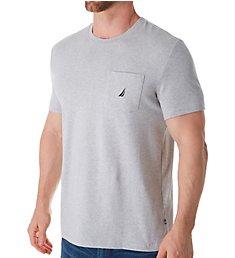 Nautica Solid Anchor Crew Neck Pocket T-Shirt V41050