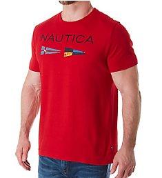Nautica Nautica Flag Crew Neck T-Shirt V71726