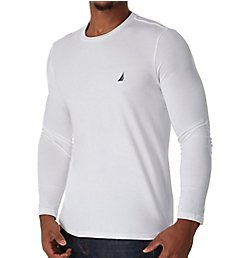 Nautica Solid Crew Neck Long Sleeve T-Shirt V83704