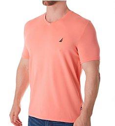 Nautica Solid V-Neck Short Sleeve T-Shirt V91004