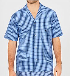 Nautica Plain Weave Short Sleeve Camp Shirt WS43S7