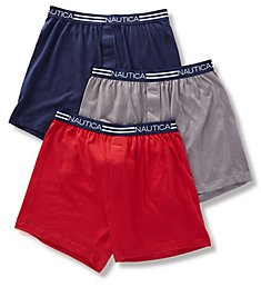 Nautica Cotton Knit Boxer - 3 Pack X60307