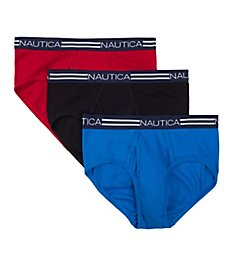 Nautica Cotton Fly Front Briefs - 3 Pack X60339