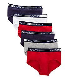 Nautica Fly-Front Cotton Briefs - 6 Pack X72939