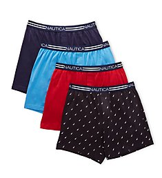 Nautica Loose Knit Cotton Boxer - 4 Pack X73807