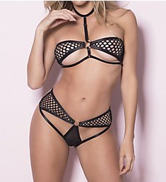 Oh La La Cheri Harness Cage Bra 2 Piece Set 4010575