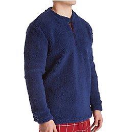 Original Penguin Cozy Fleece Long Sleeve Lounge Shirt RPM1403