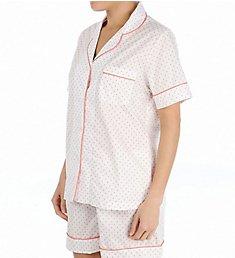 P-Jamas Miami Flamingos Woven Short PJ Set 316233