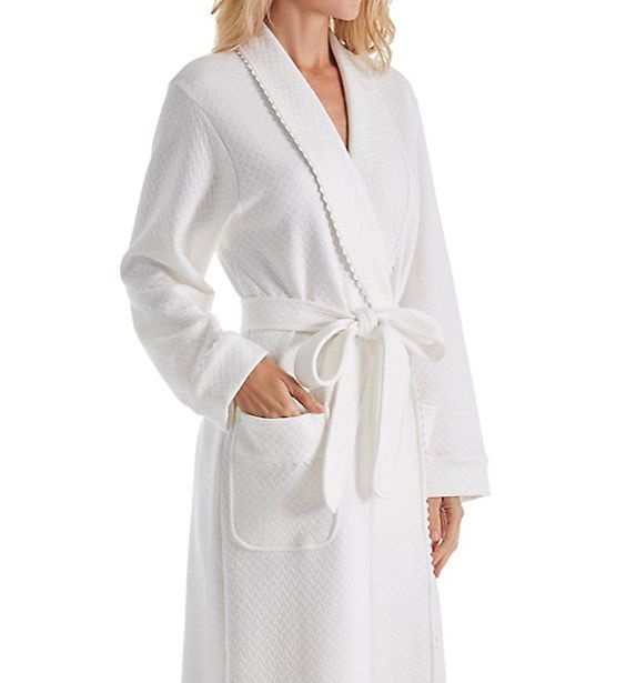 P-Jamas Quilted Basketweave Robe 358700